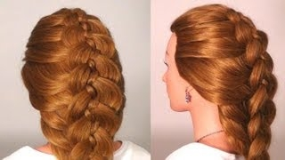 ��������: ���� �� 5 ������. Braided hairstyles for long hair (5 Strand Braid)
