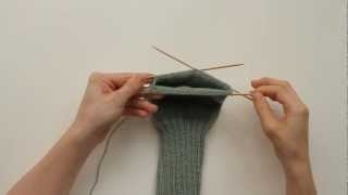 How to Knit a Sock: Heel Flap (1 of 3) ������ � ������