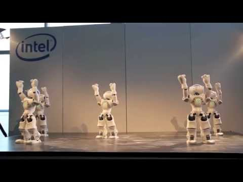 NAO Robot Dance during Intel Press Conference at Cebit 2011 новинки на cebit 2013