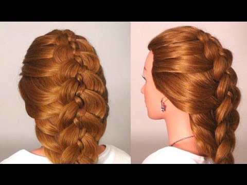 Прическа: Коса из 5 прядей. Braided hairstyles for long hair (5 Strand Braid)