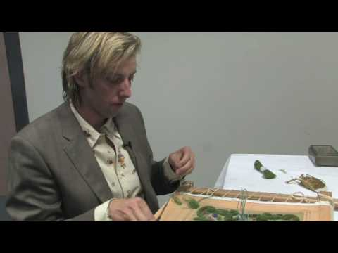 Embroidered Knot Gardens: Owen Davies of the Royal School of Needlework [PART ONE] owen davies video