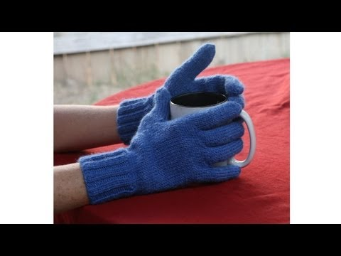 Learn to Knit Gloves, Parts 1-9 ( knitting fingerles | glove pattern | thecastingoncouch com | thecastingoncouch com )