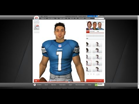 Madden 13 - How To Create YOUR Game Face how to create game face in fifa 13