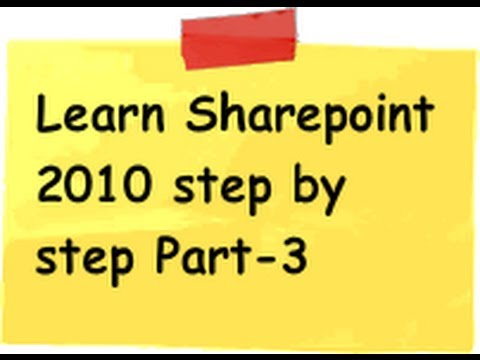 Sharepoint 2010 (Tutorial 2 Part 2) :- Create a simple web portal using sharepoint 2010 end to end примеры web parts для sharepoint 2010