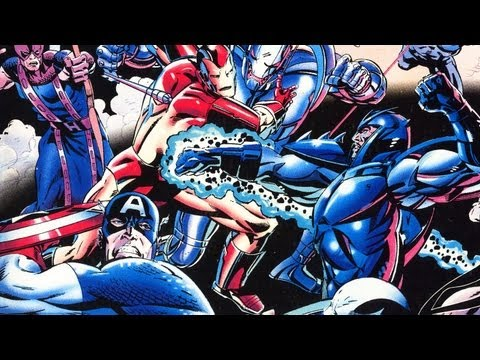 Classic Game Room - CAPTAIN AMERICA and the AVENGERS review for Sega Genesis Sega avengers герои